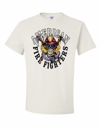 American Fire Fighters with Skull Shirts