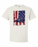 American Flag with Fire Helmet Shirts