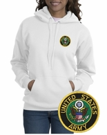 Army Patch Crest Hooded Sweatshirt