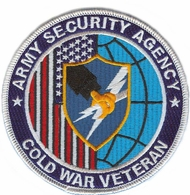 Army Security Agency Cold War Veteran Patch