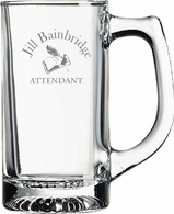 Attendant Glass Engraved Mug