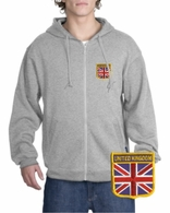 British Patch Full Zippered Hoody