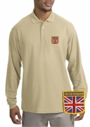 British Patch Long Sleeve Polo