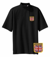 British Short Sleeve Mock Turtleneck