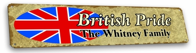 British Vintage Metal Sign