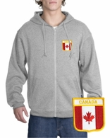 Canada Patch Full Zippered Hoody