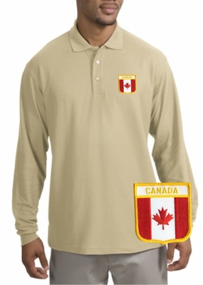 Canada Patch Long Sleeve Polo