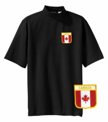 Canada Short Sleeve Mock Turtleneck