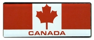 Canadian Flag Bar Sticker