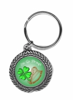 Erin Go Braugh Pewter Key Chain