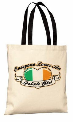 Everybody Loves An Irish Girl Tote bag