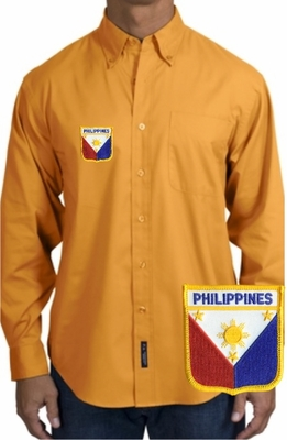 Filipino  Long Sleeve Oxford