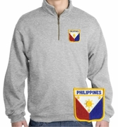 Filipino  Patch 1/4 Zip Pullover