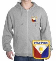 Filipino  Patch Full Zippered Hoody