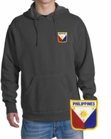 Filipino  Patch Hooded Sweatshirt