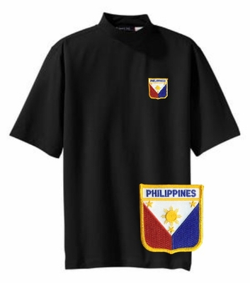 Filipino  Short Sleeve Mock Turtleneck