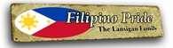 Filipino  Vintage Metal Sign