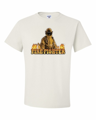 Firefighter with Flames Shirts