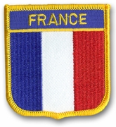 France Crest Flag Patch