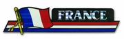 France Flag Bumper Sticker
