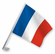 France-French Car Flag