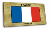 France-French Vintage Metal Short Sign