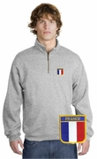 France Patch 1/4 Zip Pullover