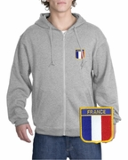 France Patch Full Zippered Hoody