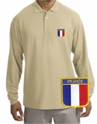 France Patch Long Sleeve Polo