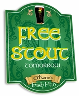 Free Stout Tomorrow Irish Pub Sign  - Personalized