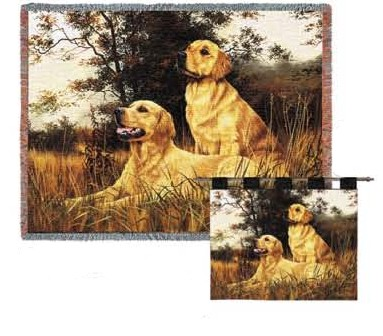 Golden Retriever Afghan Throw
