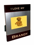 Golden Retriever Brush Silver Frame