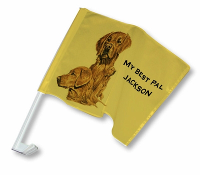 Golden Retriever Car Flag