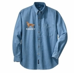Golden Retriever Denim Shirt - Body