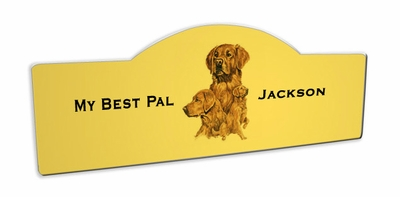 Golden Retriever Display Sign