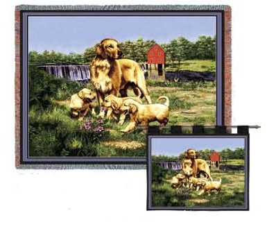 Golden Retriever Family Wall Hanging