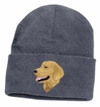 Golden Retriever Head Shot Knit Cap