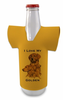 Golden Retriever Jersey Bottle Wrap