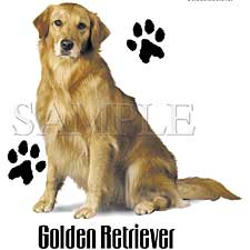 Golden Retriever Paw Prints Shirts
