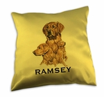 Golden Retriever Satin throw pillow