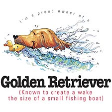 Golden Retriever Swim Tee