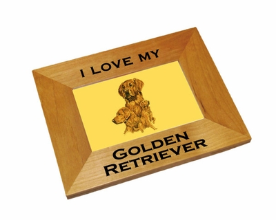 Golden Retriever Wood Picture Frame