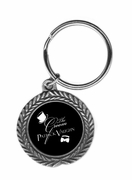 Groom Pewter Key Ring