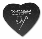 Groomsmen Gifts Heart Shaped Mousepad