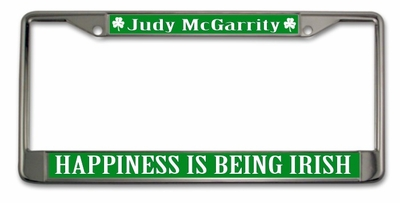 Happiness is Being Irish License Plate Frame