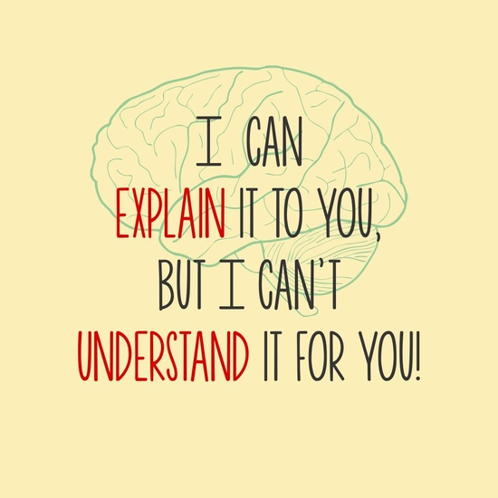 I Can Explain It To You, But I can't Understand It For You ...