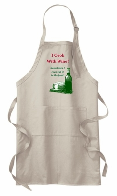 I Cook With Wine Apron