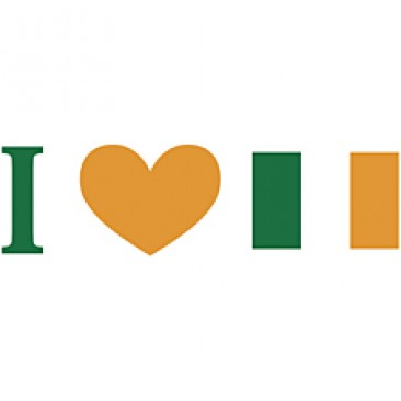 I Love Ireland Flag