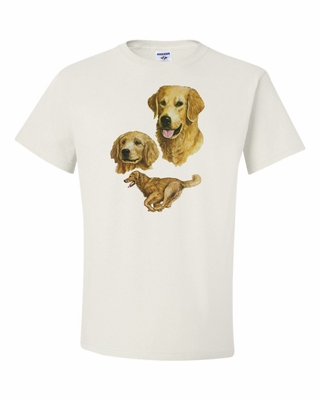 In Full Motion Golden Retriever Shirt