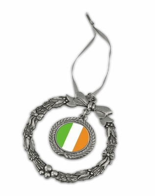 Ireland Pewter Holiday Ornament